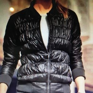 Athleta down bomber jacket